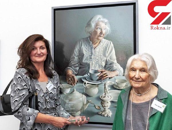 اسکار پرتره به نقاش معروف زن برای کشیدن مادرش رسید +عکس