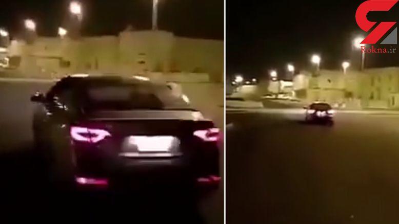 اقدام عجیب مرد عرب با خودروی گران قیمتش + فیلم
