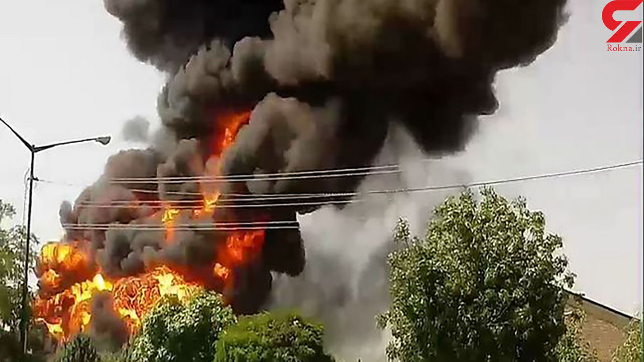 آتش سوزی کارخانه ای در دماوند / صبح امروز رخ داد