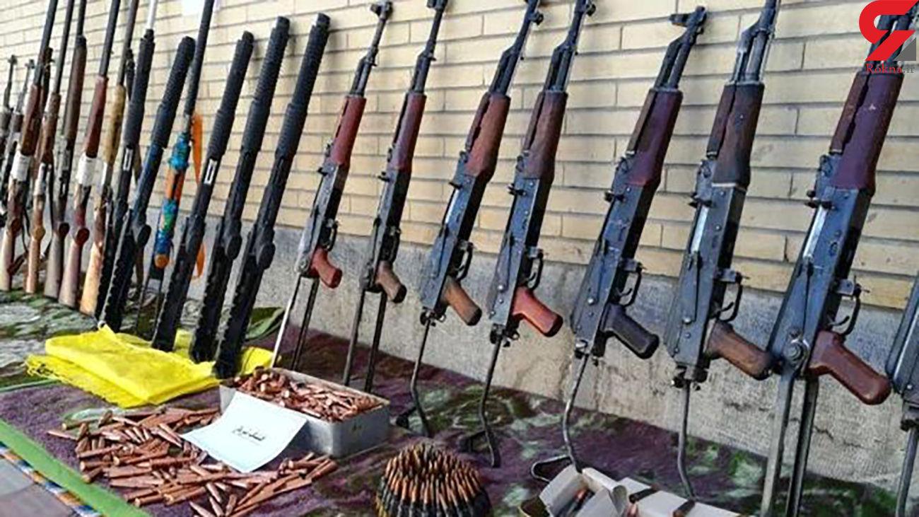 کشف محموله سلاح جنگی در غرب کشور