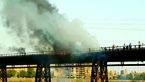 عجیب ترین علت برای  آتش گرفتن «پل سیاه» اهواز+ تصویر