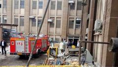 آتش سوزی در بیمارستان 17 شهریور