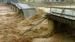 تخریب پل اصلی شهر پلدختر +عکس