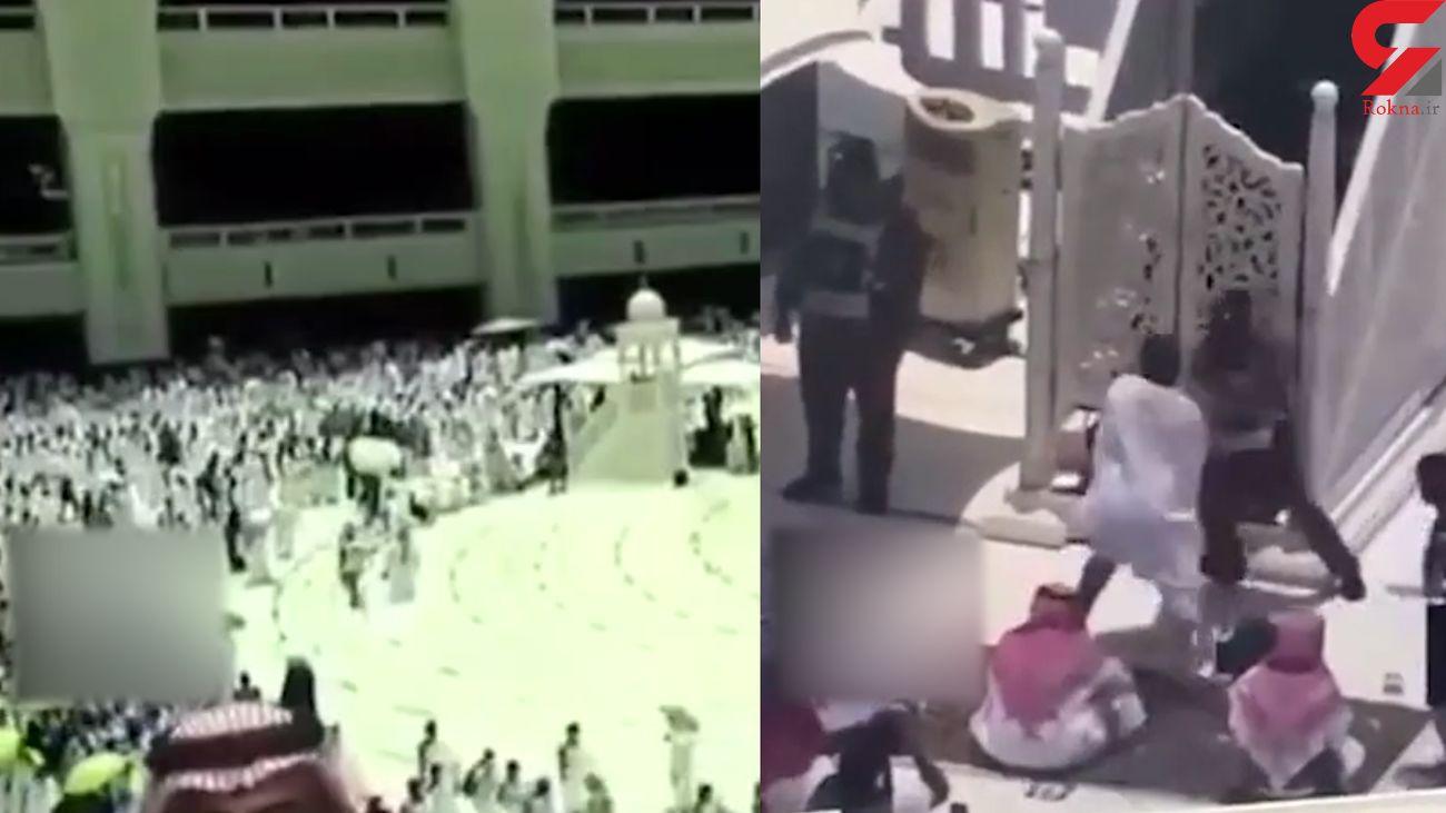 فیلم لحظه حمله یک زائر با چوب به خطیب مسجد الحرام