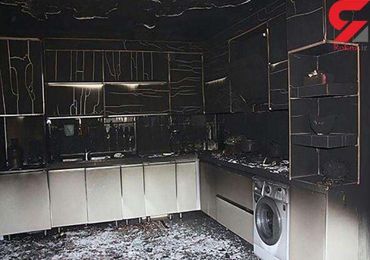 آتش سوزی خانه مسکونی در بندرعباس / دلیل آن چه بود؟ + عکس