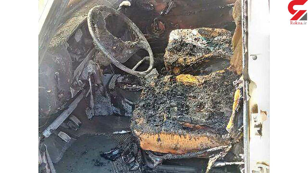 آتش سوزی خودرو پیکان بر اثر سوختگیری غیرمجاز