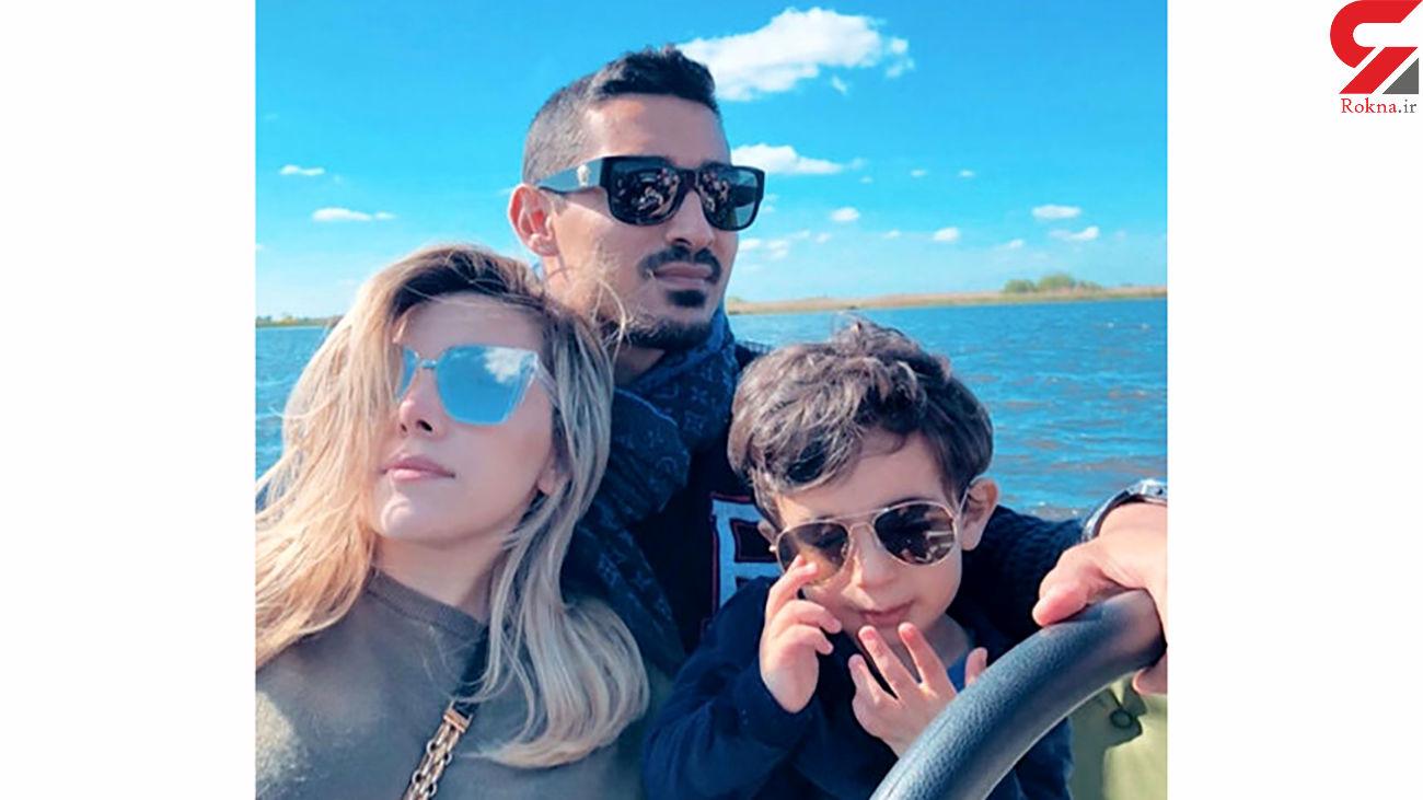 تفریح 3 نفره رضا قوچان نژاد در دریا+عکس