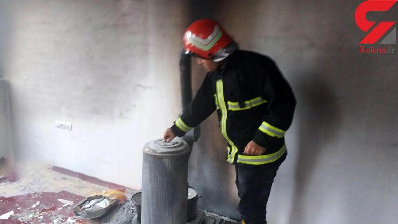 آتش سوزی خانه ای روستایی با بخاری نفتی !
