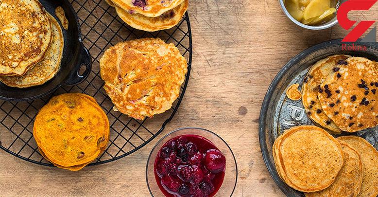دستور پخت پنکیک ساده ویژه صبحانه
