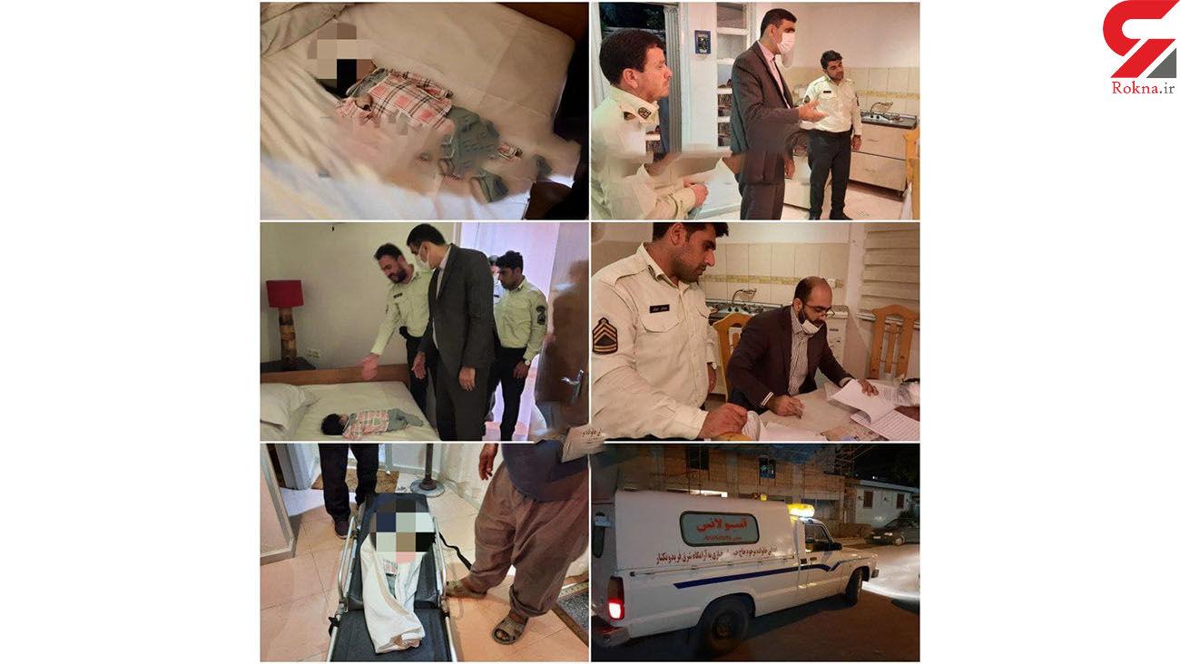 عکس پیدا شدن جسد نوزاد 2 ماهه تهرانی در خانه ویلایی فریدونکنار +عکس