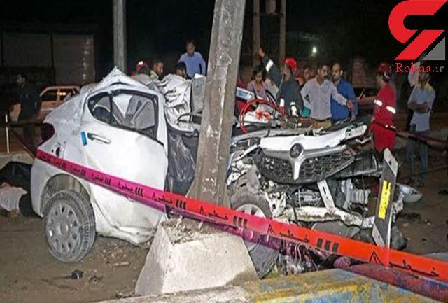 عکس خودروی مچاله شده برلیانس در تصادف مرگبار بندر عباس