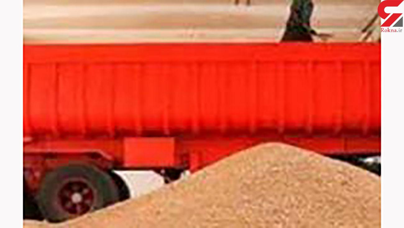 کشف 130 تن گندم قاچاق در زنجان
