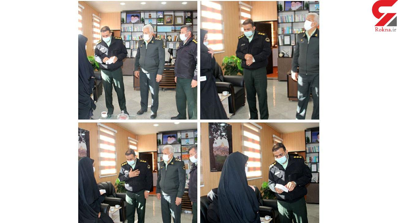 لبخند رضایت دانش آموز یتیم مهرانی از اقدام فرمانده انتظامی استان ایلام