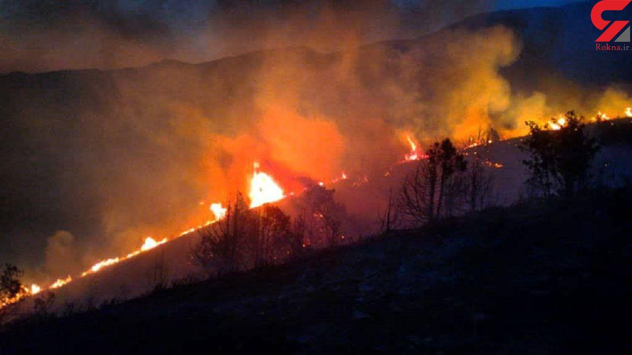 مهار ۹۰ درصد آتش سوزی در مراتع الموت غربی / ۷۰۰ هکتار در آتش سوخت + تصاویر