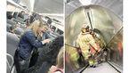 1200 مسافر مترو 3 ساعت زیر آب حبس شده بودند+عکس