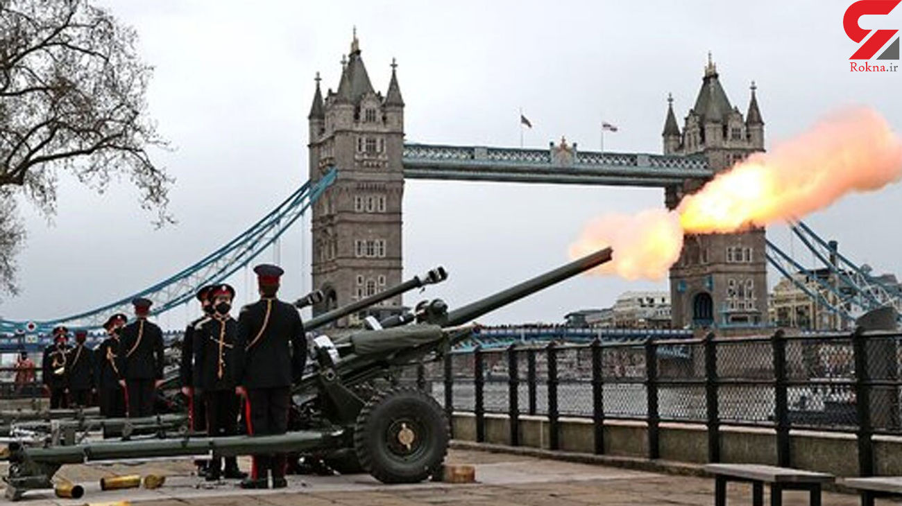 شلیک 41 توپ در بریتانیا + فیلم