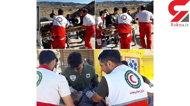 امداد هوایی یک مصدوم در روستای چهارباغ