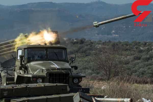 ارتش سوریه حومه ادلب را موشک باران کرد