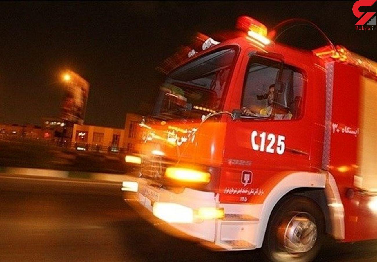 آتش سوزی خوابگاه دانشجویی دختران / در سعادت آباد رخ داد