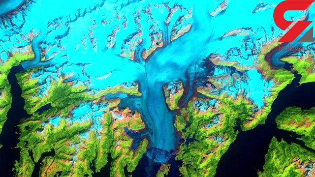 تصویر ناسا از یخچالهای در حال آب شدن آلاسکا