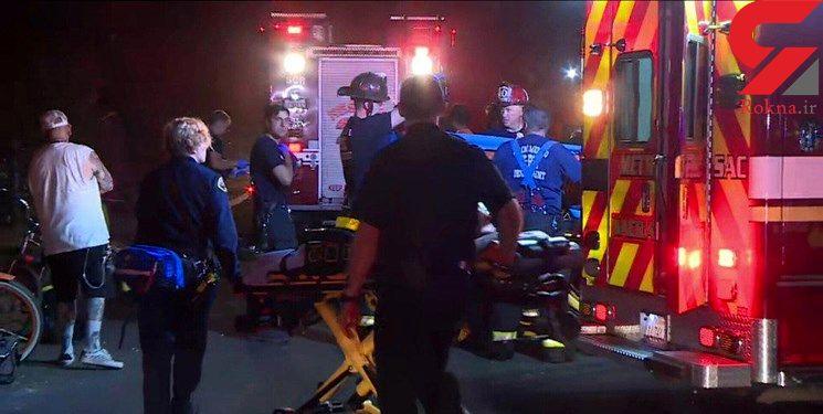 خروج قطار از ریل / 17 آمریکایی زخمی شدند