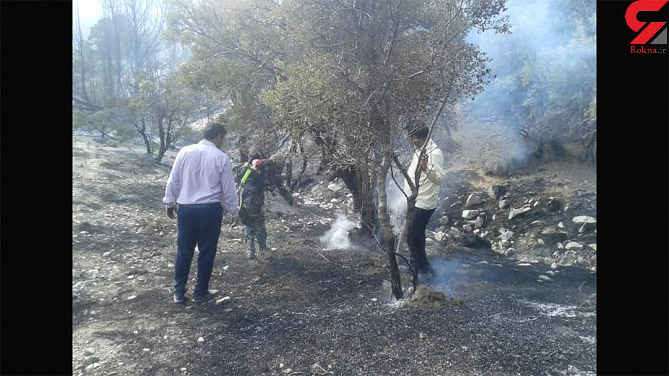 آتش سوزی در شهرستان عنبرآباد