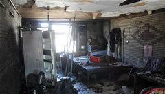 کارگاه آهنگری دچار آتش سوزی شد