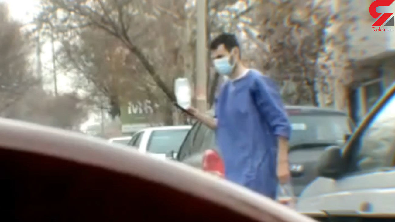 فیلمی که ایران را تکان می دهد / بیمار قزوینی از بیمارستان با سرم به سوپری رفت!