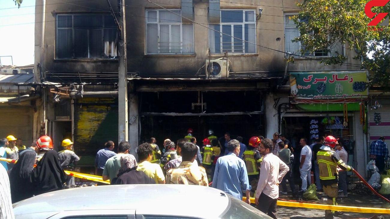 آتشسوزی هولناک در انبار چوب در شرق اصفهان