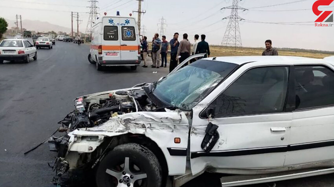 تصادف مرگبار در اهواز با یک کشته و 4 زخمی + عکس