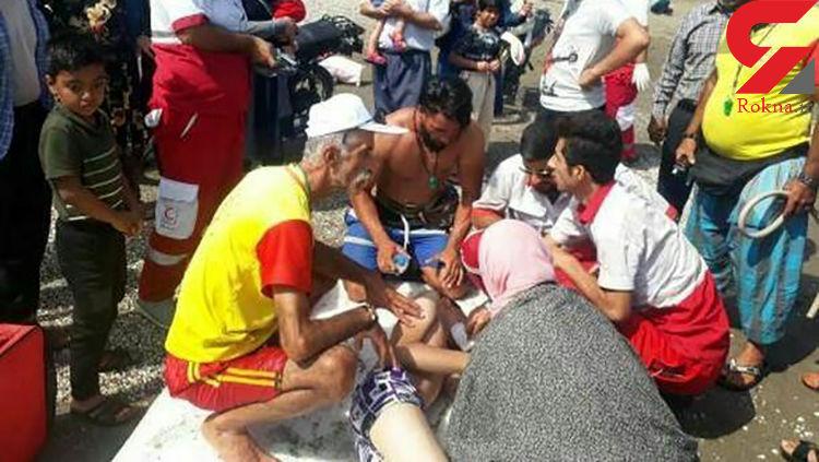 نجات پسر ۱۵ ساله از غرق شدن در ساحل بابلسر