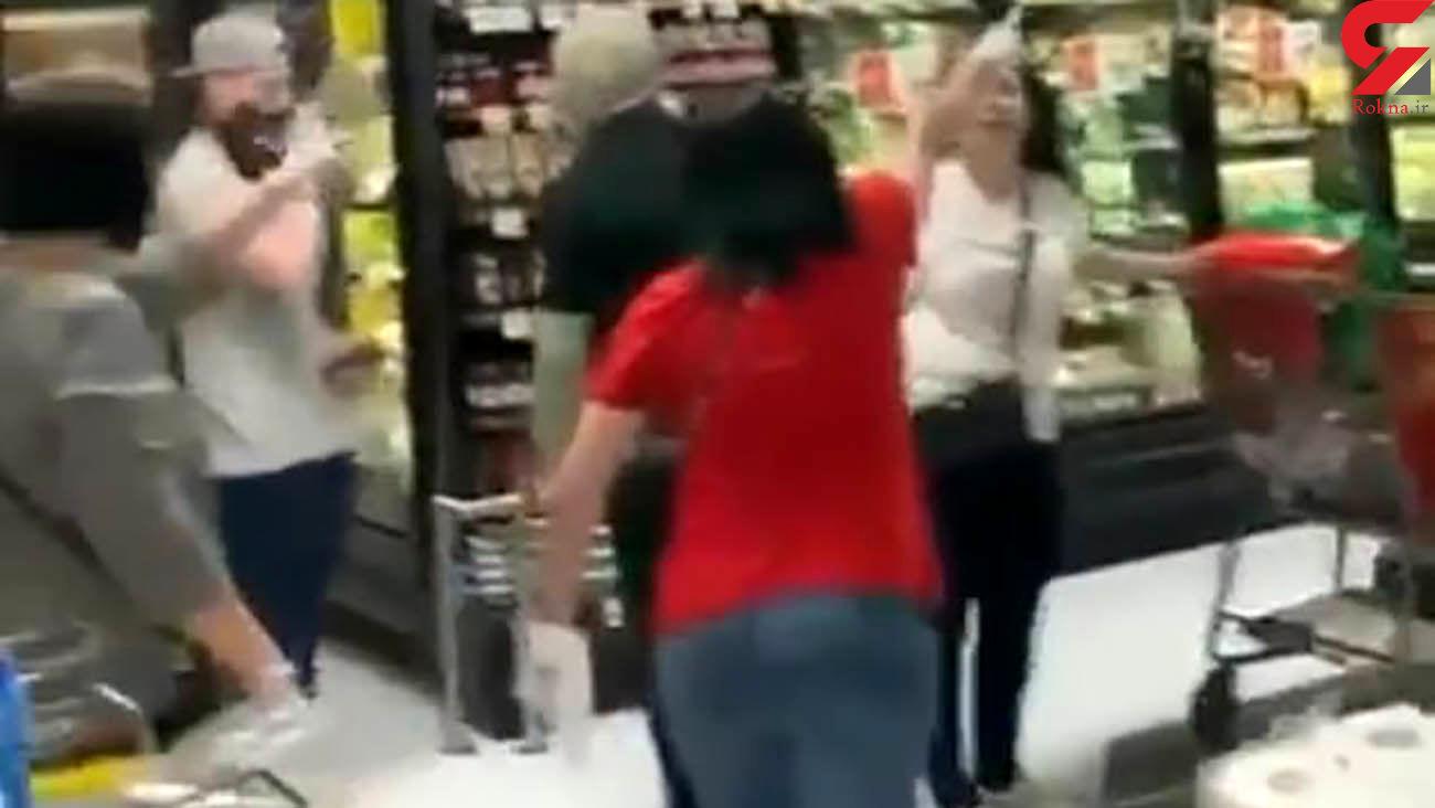 درگیری وحشتناک در یک فروشگاه به خاطر ماسک + فیلم