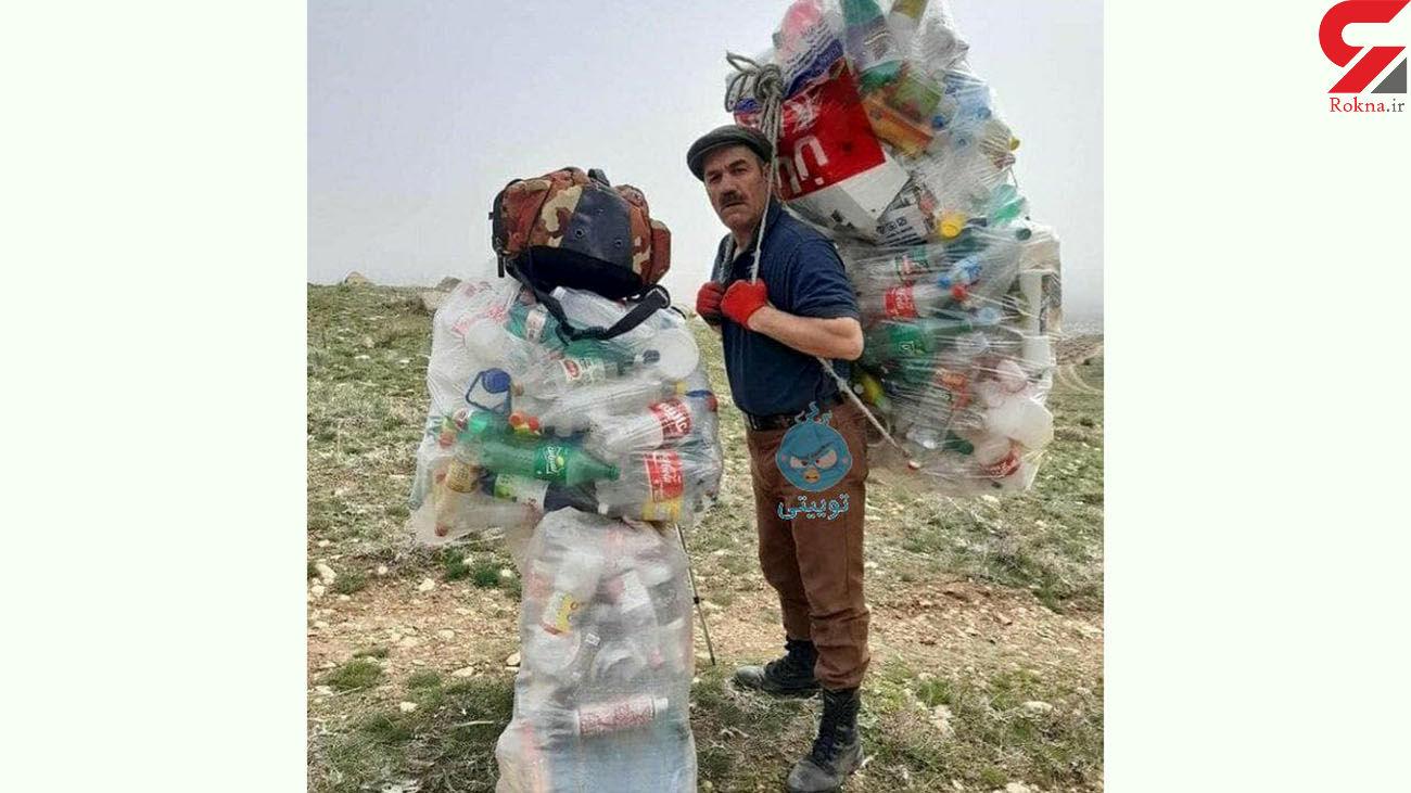 اقدام زیبای کوهنورد زنجانی + عکس
