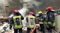 آتش سوزی هولناک در پاساژ شانزه لیزه تهران