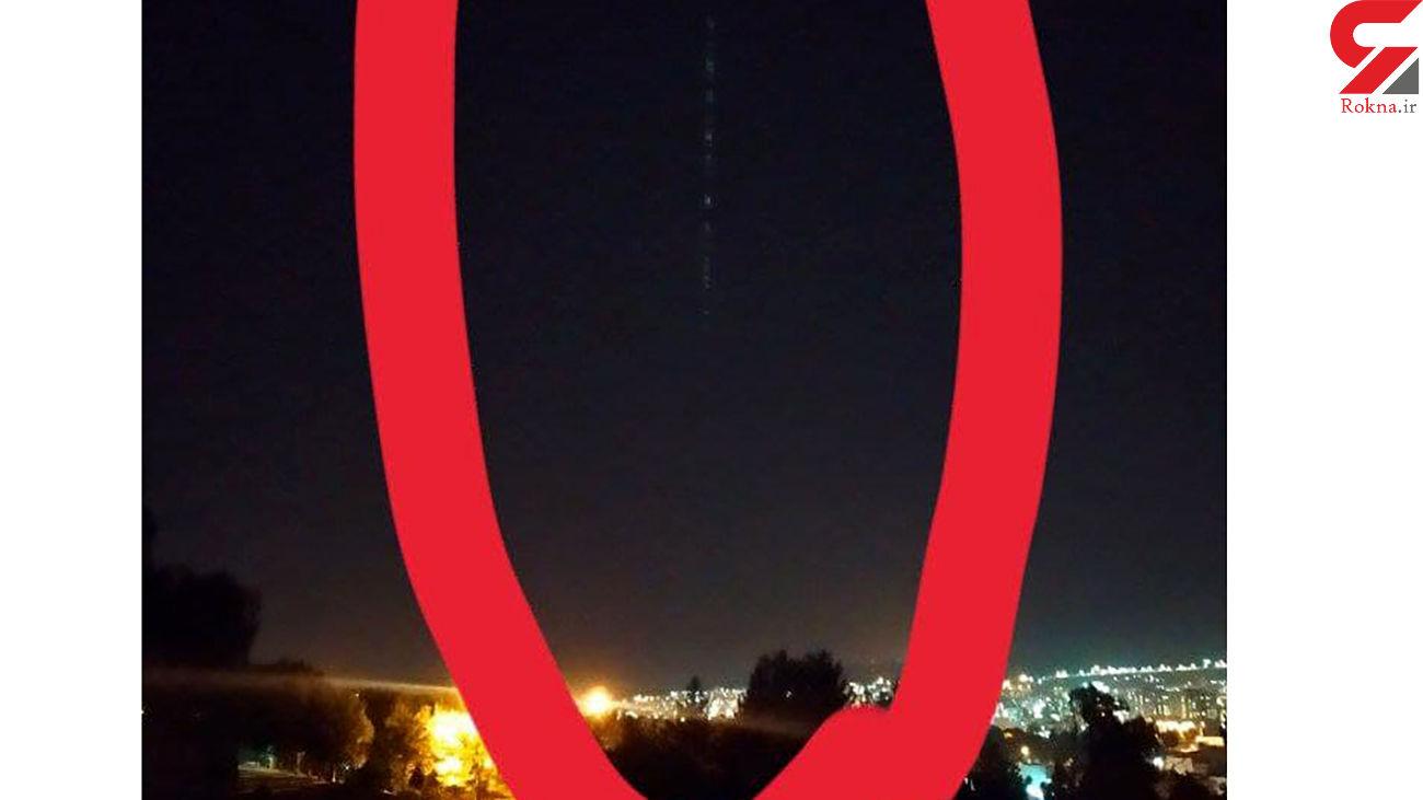 پشت پرده نور عجیب در آسمان ایلام + عکس