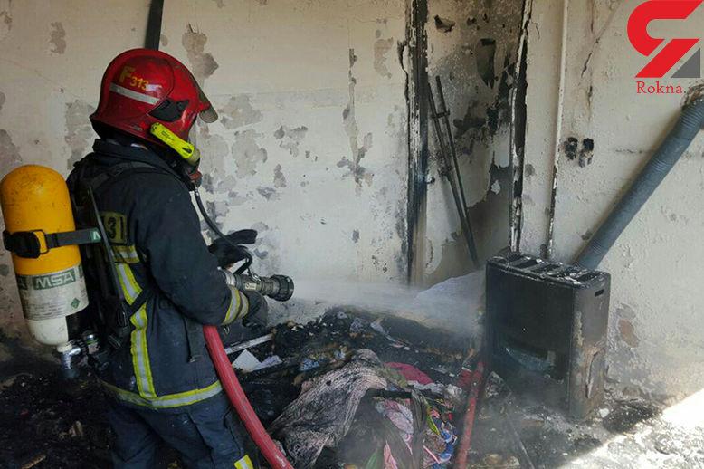 تخریب واحد مسکونی در اثر نشت گاز در قروه