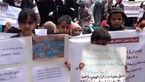 اعتراض کودکان یمنی به جنایت هولناک متجاوزان سعودی+ تصاویر