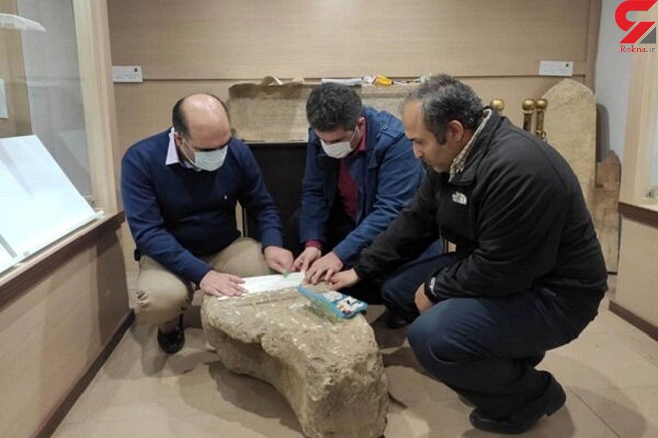 کشف سنگ قبر تاریخی در قلعه رودخان فومن + عکس