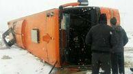 واژگونی خونین اتوبوس در هشترود / 8 مسافر راهی بیمارستان شدند