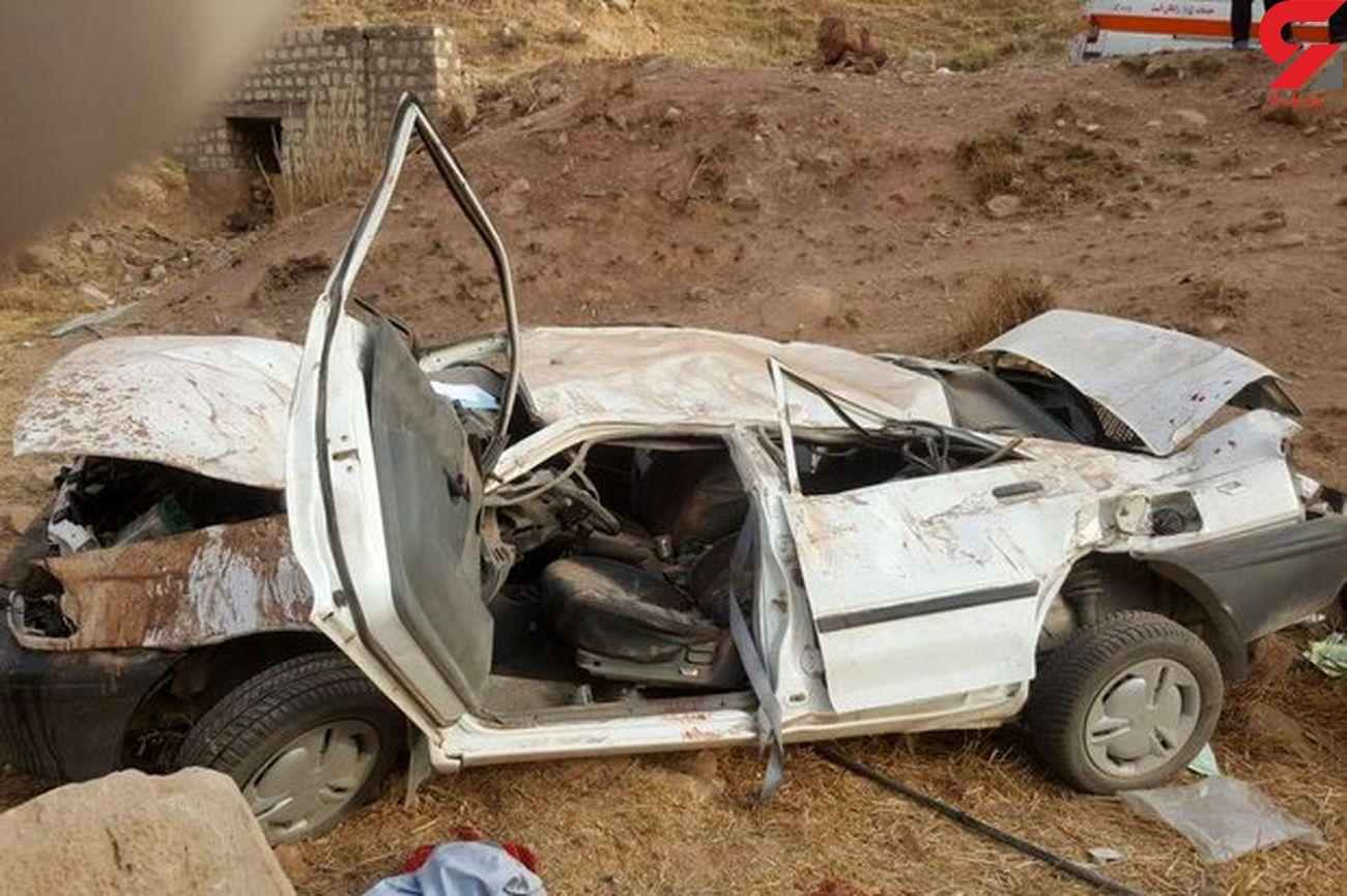 7 کشته و زخمی بر اثر واژگونی پراید در بروجرد+ عکس