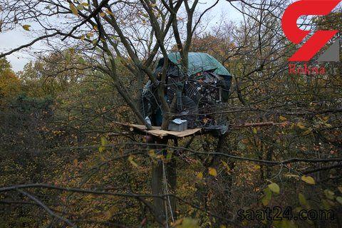 بست نشینی 24 متر بالاتر از زمین + عکس های جالب