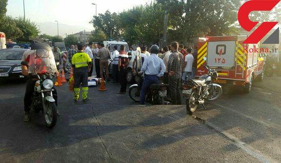برخورد مرگبار سمند با اتوبوس در خیابان شهید رجایی / یک زن کشته شد + عکس