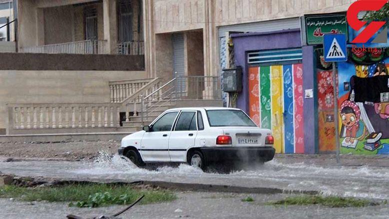 فیلم آبگرفتگی شدید معابر شهر زاهدان در پی بارشهای سیل آسا