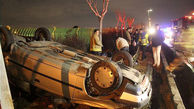 واژگونی خودرو سواری دو مجروح بر جای گذاشت