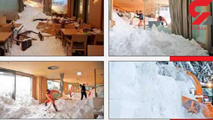 هتل معروف زیر بهمن دفن شد / مرگ ده ها تن+ عکس