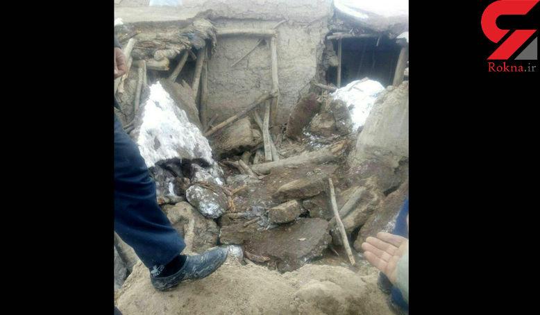 مرگ تلخ عروس و داماد جوان روستایی بر اثر بارش برف + عکس