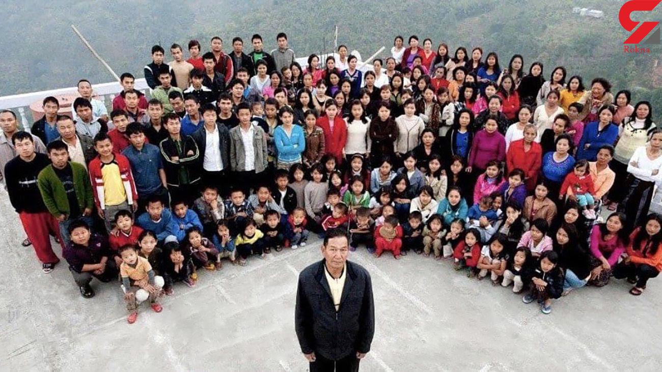 مرگ مردی که رکورددار تعداد زن و بچه بود + عکس