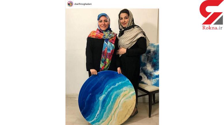 تابلو نقاشی که مجری معروف زن خرید +عکس