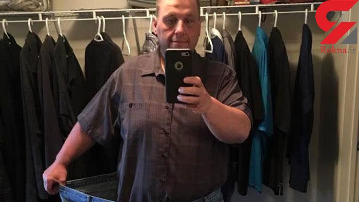 انگیزه لاغری برای مرد 100 کیلویی/ در هواپیماجا نمی شد+عکس