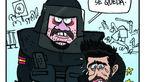 کارتون جالب اکیپ در حمایت از پیکه و کاتالونیا